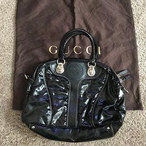 Gucci Women's Black Patent Leather Handbag